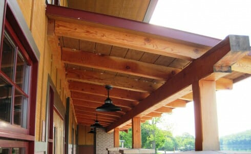 Timber Column Overhang
