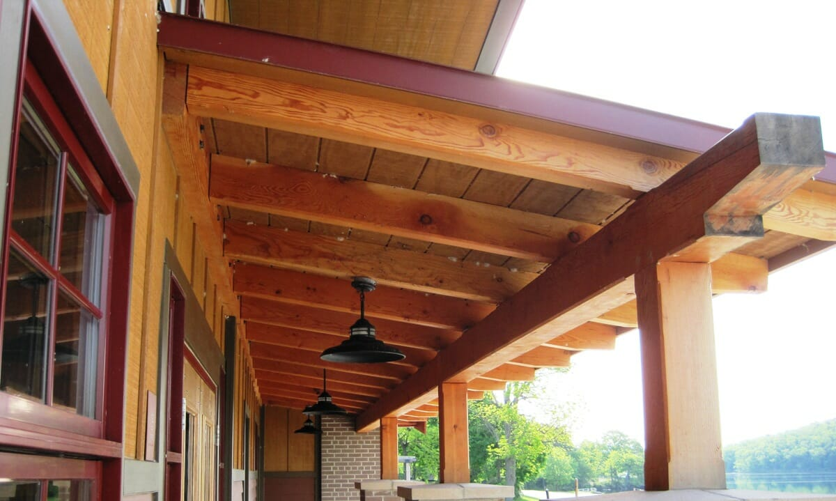 Timber Framed Pergola For Ny State Park