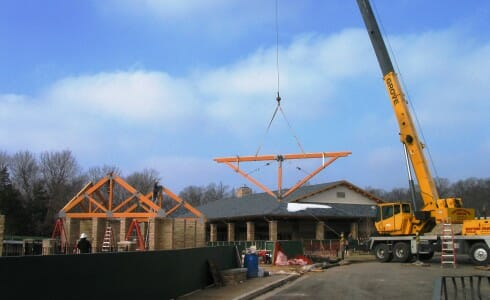 Continuous Ridge Timber Roof Trusses