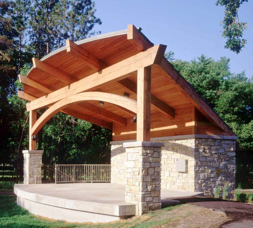Wood Beam Construction ~ Post and beam construction building with wood