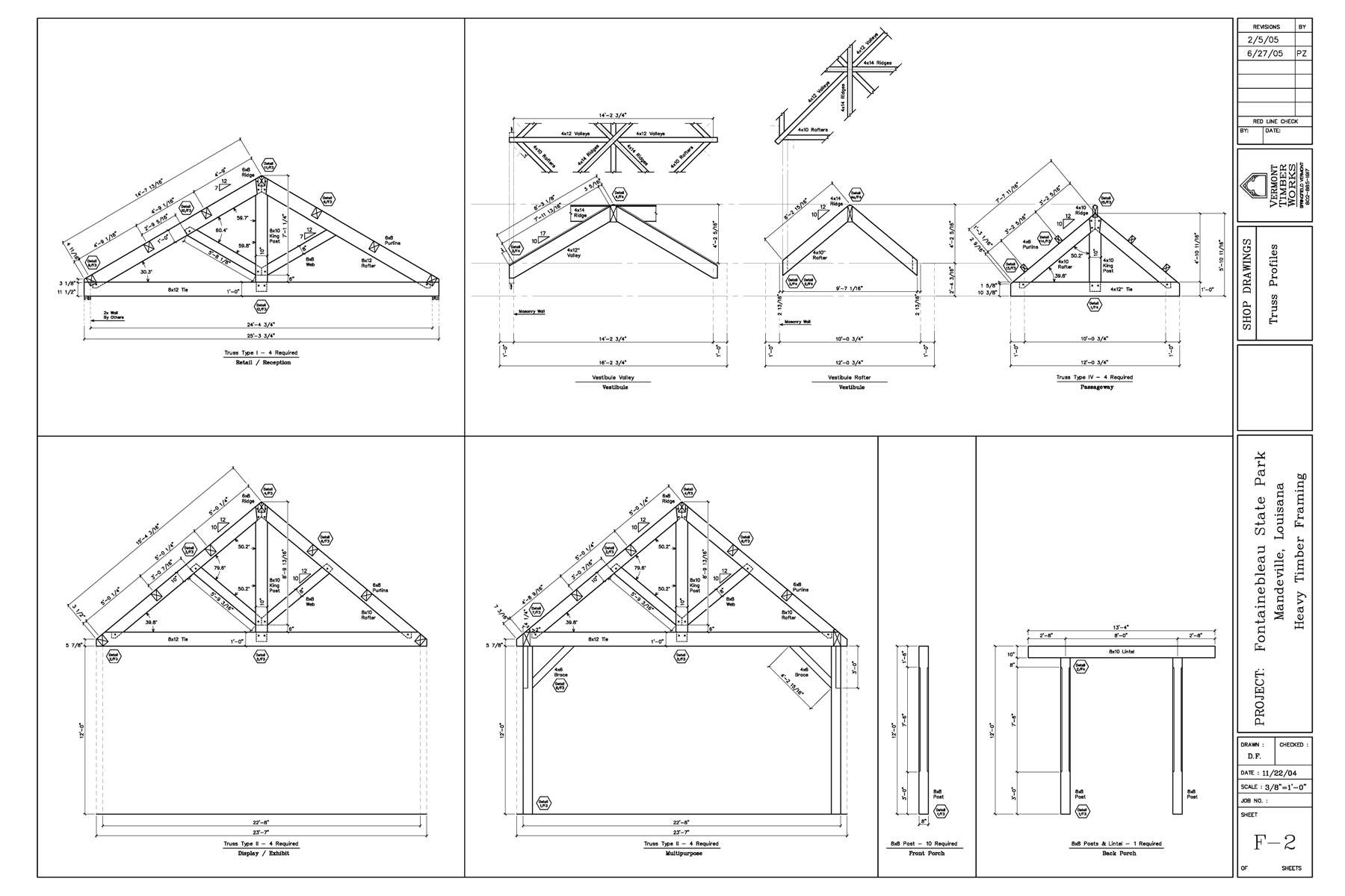 Plans FOr the Fontainebleau Timber Frame