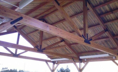 Park Pavilion with Custom Roof Trusses