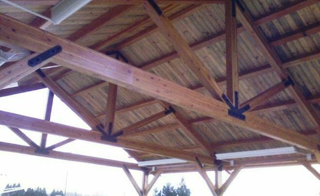 Park Pavilion with Custom Roof Trusses