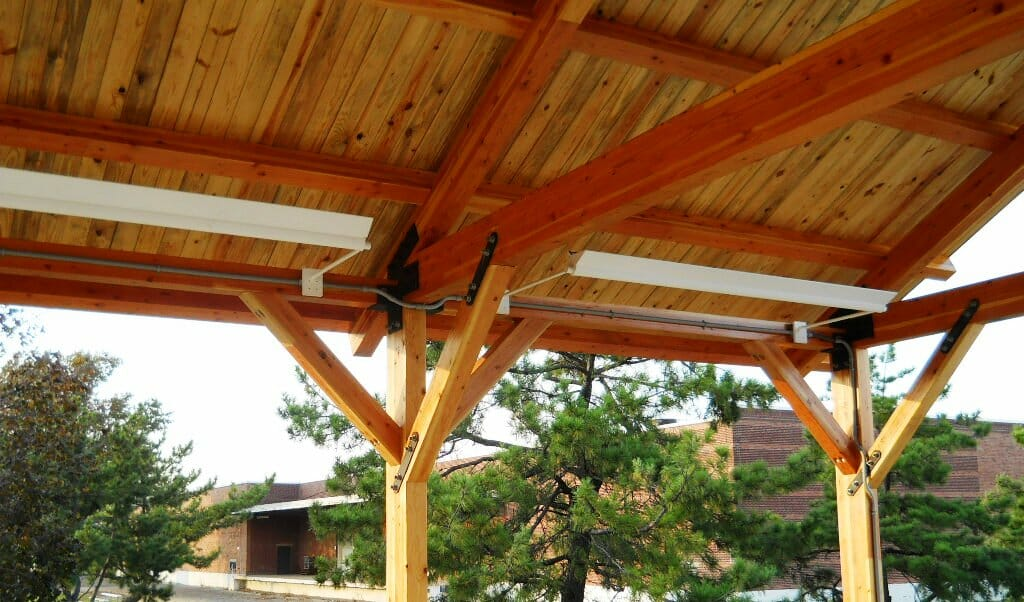 Timber Construction Picnic Pavilion Amp King Post Trusses
