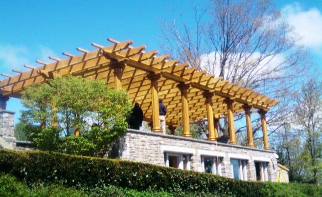 Heavy Timber Pergola