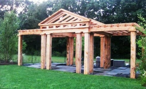 Rough Sawn Wood Pergola
