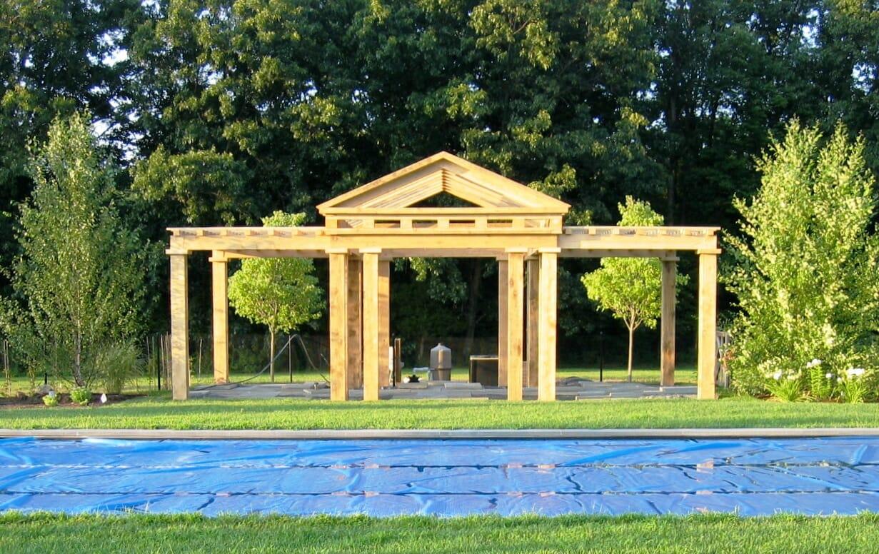 Sawn Timber Pergola ~ Mccarthy pergola traditional joinery douglas fir frame