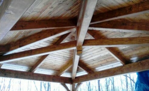 Ceiling Beams Made of Fir Timber