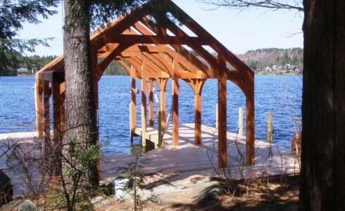 Beautiful Timber Framed Boathouse