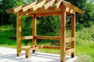 Oak Timber Frame Bus Shelter