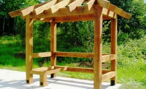 Oak Timber Frame Bus Shelter