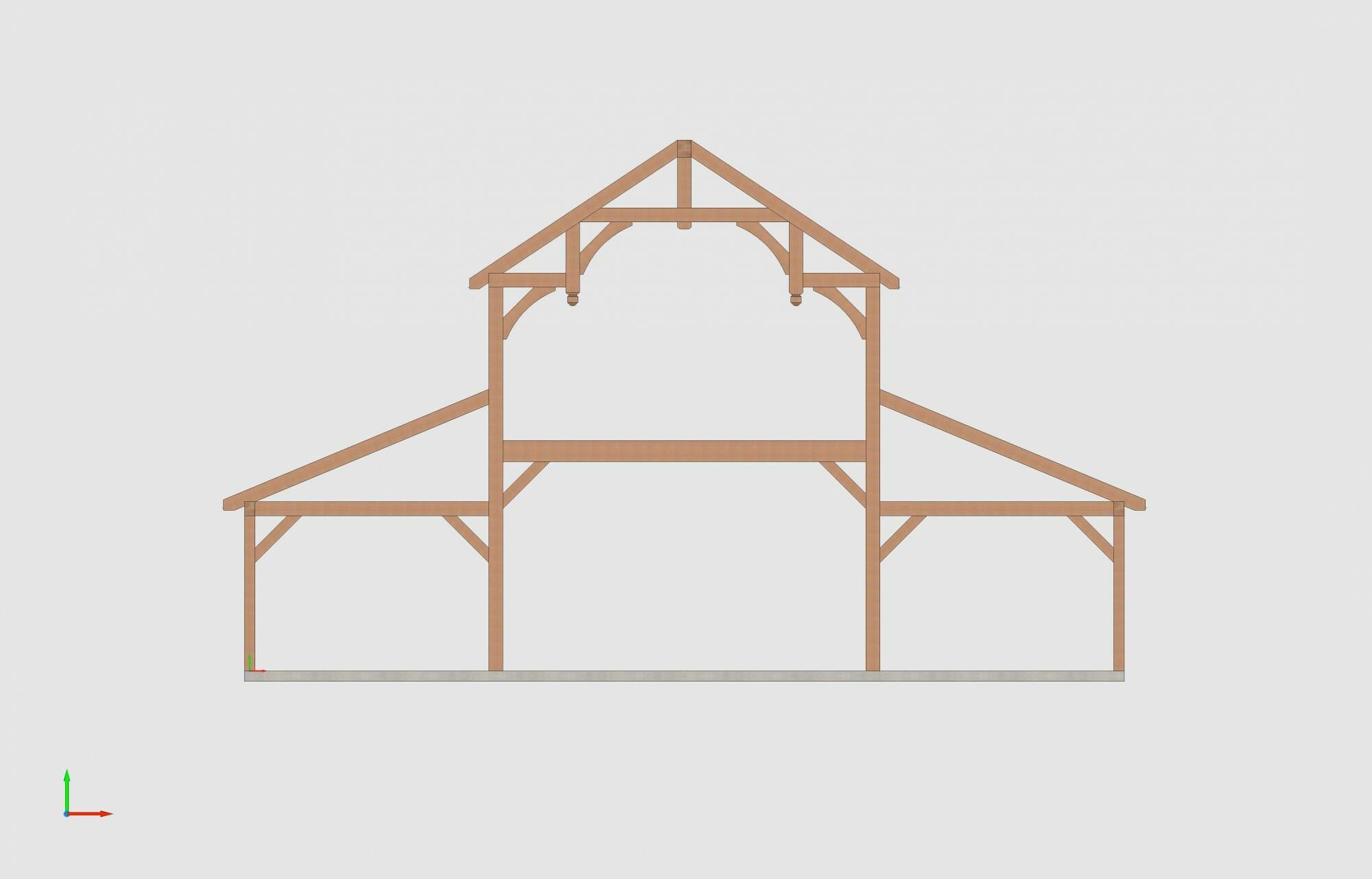Timber Frame Design of a Fancy Barn