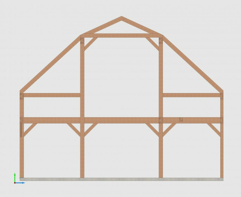 Gambrel Style Timber Frame