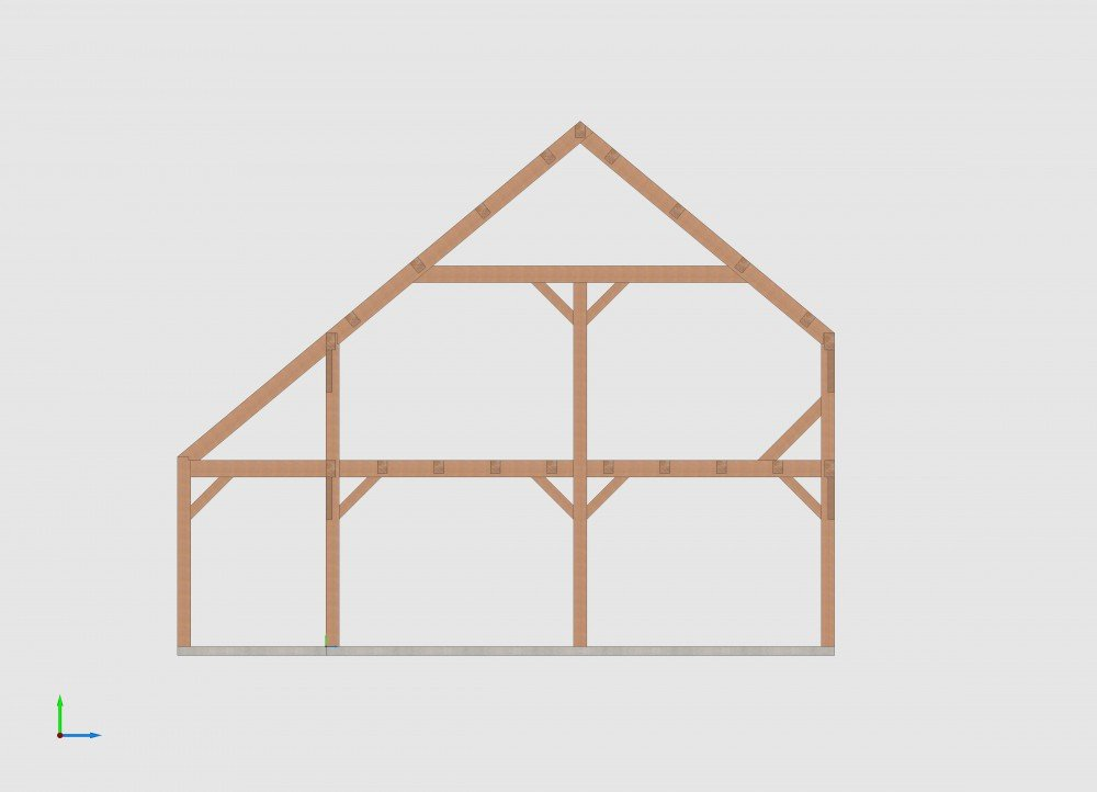 Post and beam saltbox shed plans