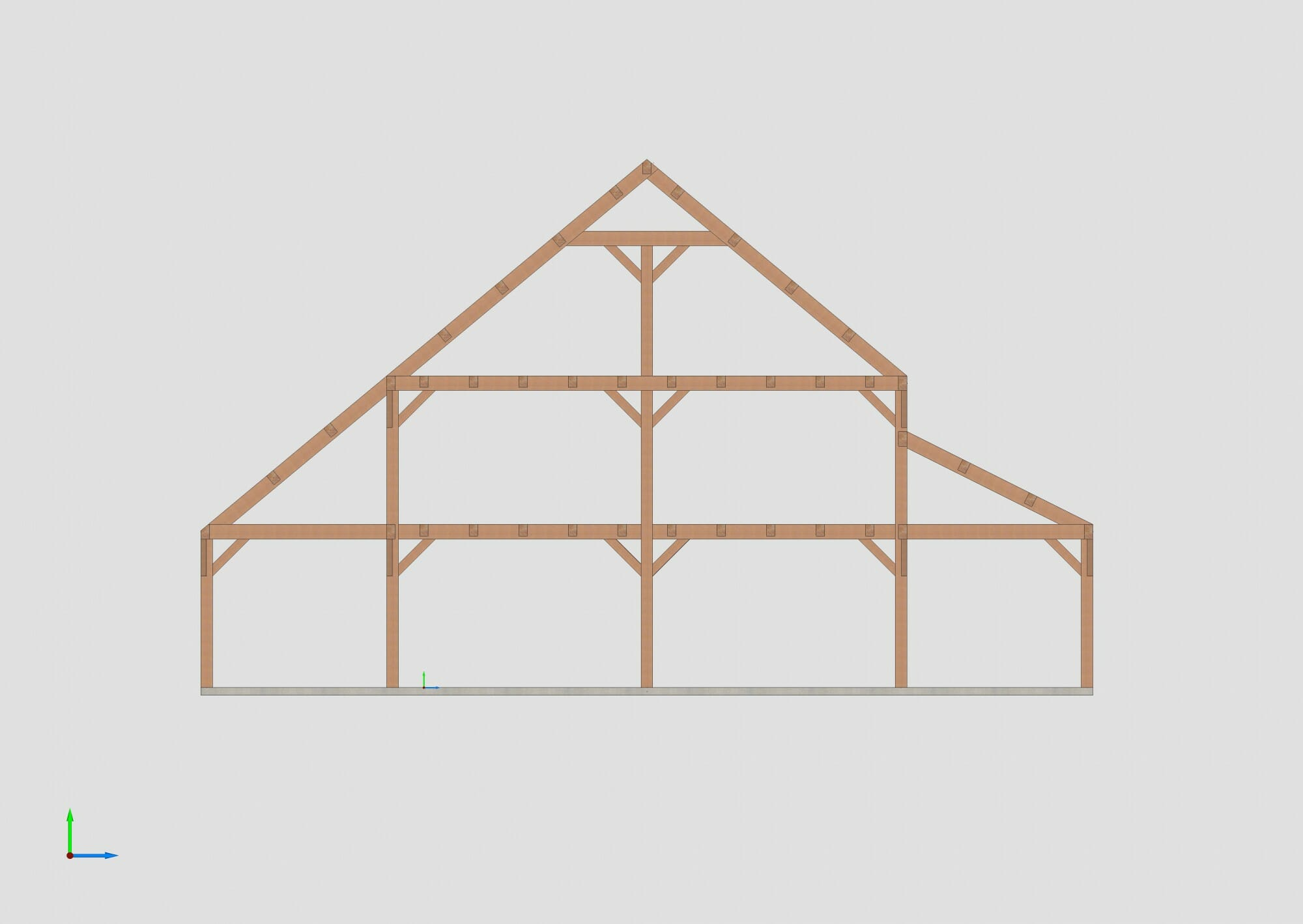 See a Farm House Style Timber Frame