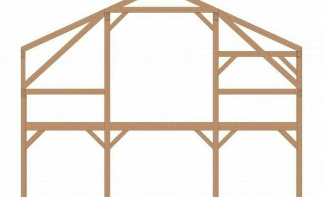 Customized Gambrel Frame