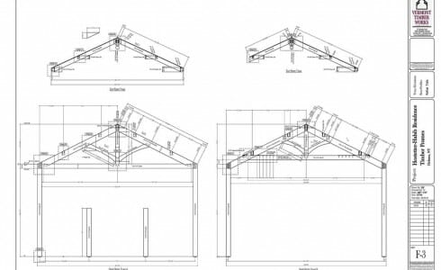 Shop Drawing of Modified King Post Trusses