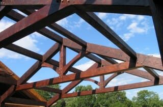 Completed King Post Trusses