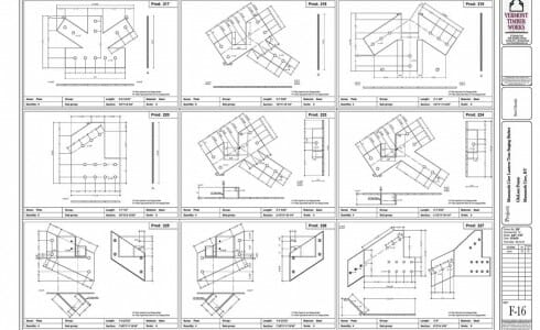 Shop Drawings of the Steel Joinery Details for Mammoth Cave