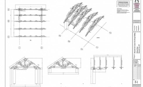 Framing Plan & Bent Profiles for Mammoth Cave Pavilion