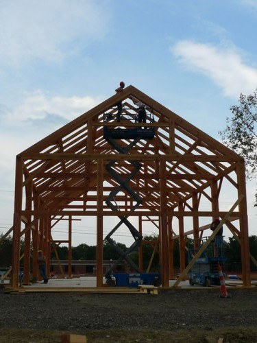 Heavy Timber Frame During Construction