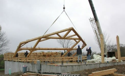 Timber Frame Raising, Assembly, Erection, & Installation