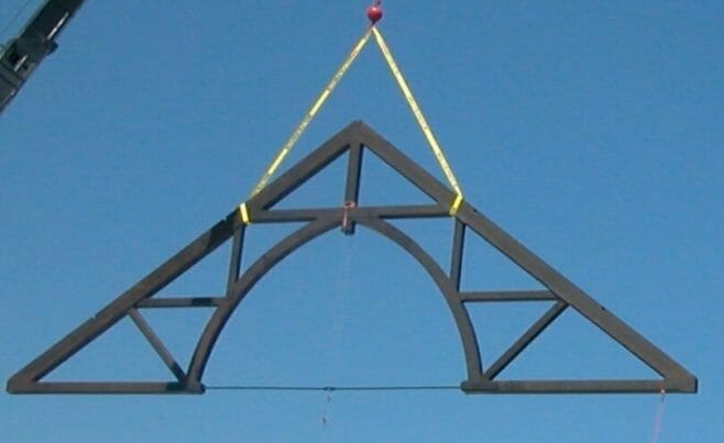 Arched Timber Truss Flying