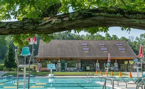 Exterior of the Katonah Pool House