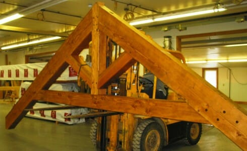 Assembled Trusses for Shipment