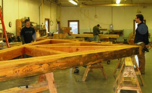 Assembling Wood Trusses in the Shop