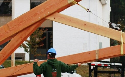 Lifting a Wood Truss
