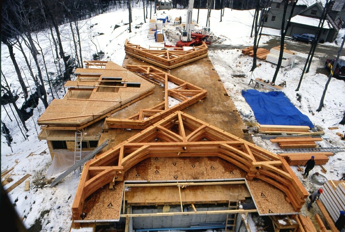 Fabricating vermont timber works frames