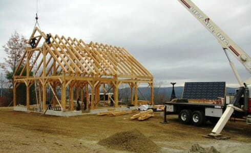 Installed Wood Rafters