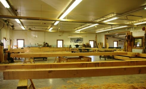 Uncut Beams in the Shop