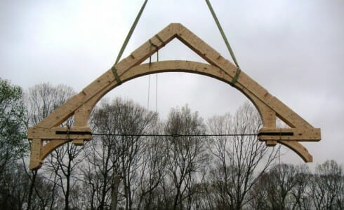 Timber Truss with a Tension Rod