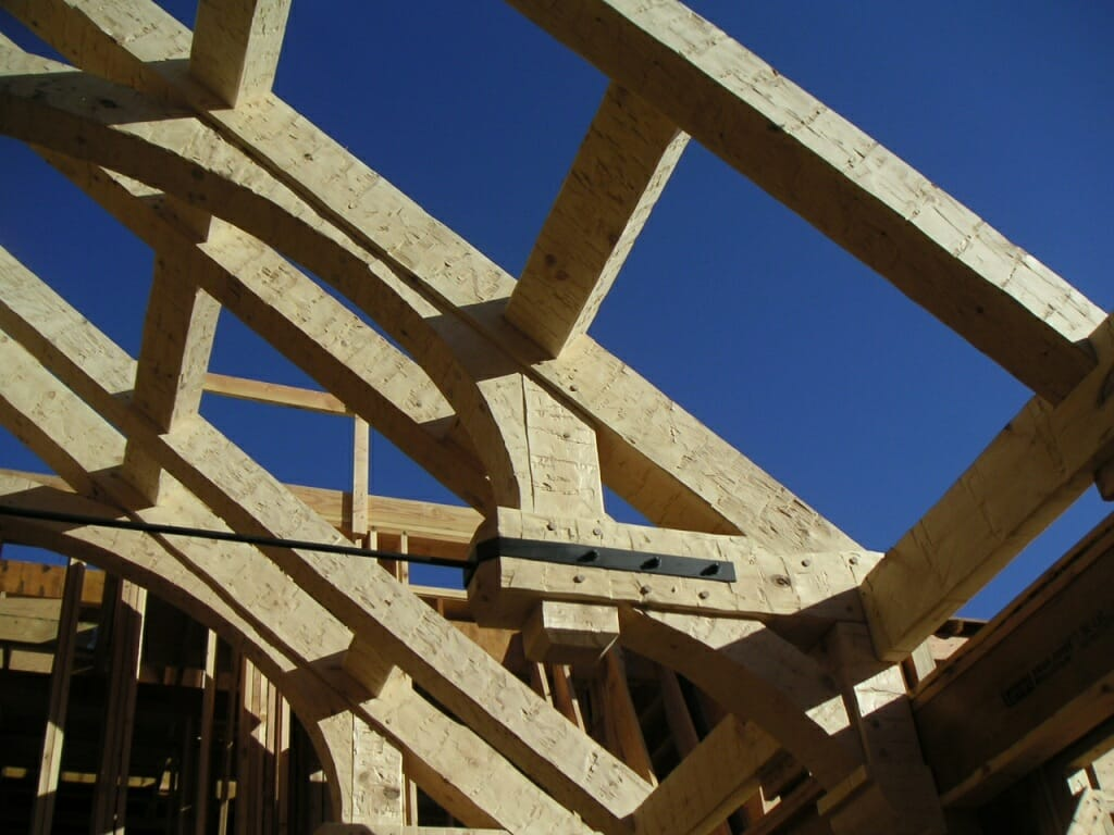 Rough Hewn Timber Frame Home Hammer Beam Design