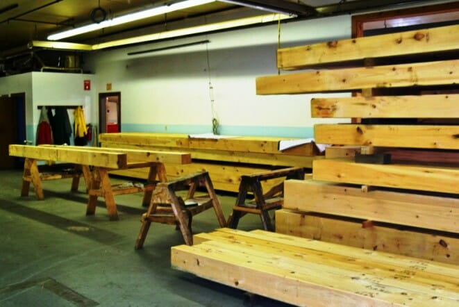 Fir Timbers Sitting in our Shop after Arrival