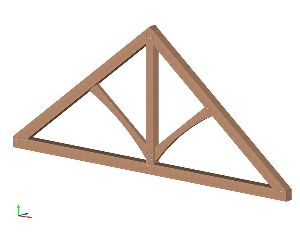 King Post Trusses Timber Frame Design Wood Ceiling Beams