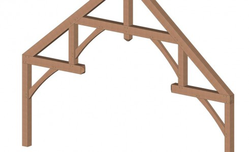 Modified Hammer Beam Truss Design