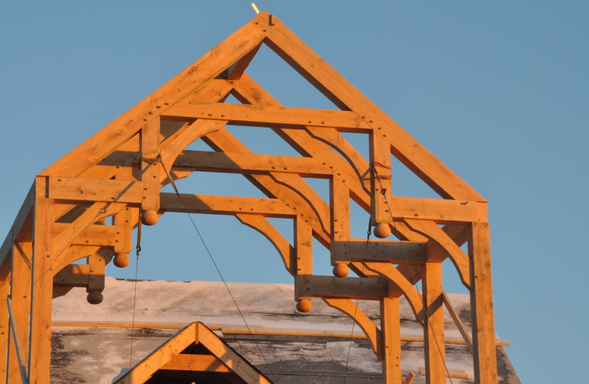Modified Hammer Beam Trusses Arched Webs And Braces