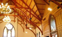 Modified Hammer Beam Trusses for a Cathedral Church Ceiling