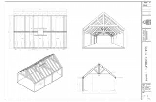 Plans for Modified King Post Trusses