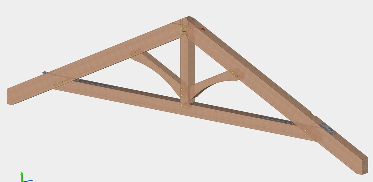 Modified King Post Trusses | Visual Height | Ceiling Beams