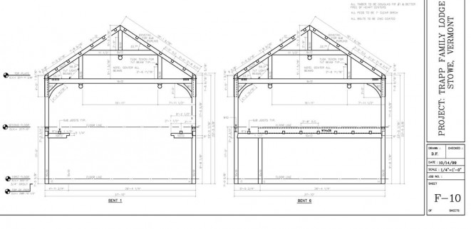 Shop Drawings of Queen Post Trusses