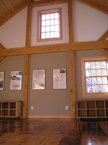 Queen Post Truss in the Walt Whitman Barn