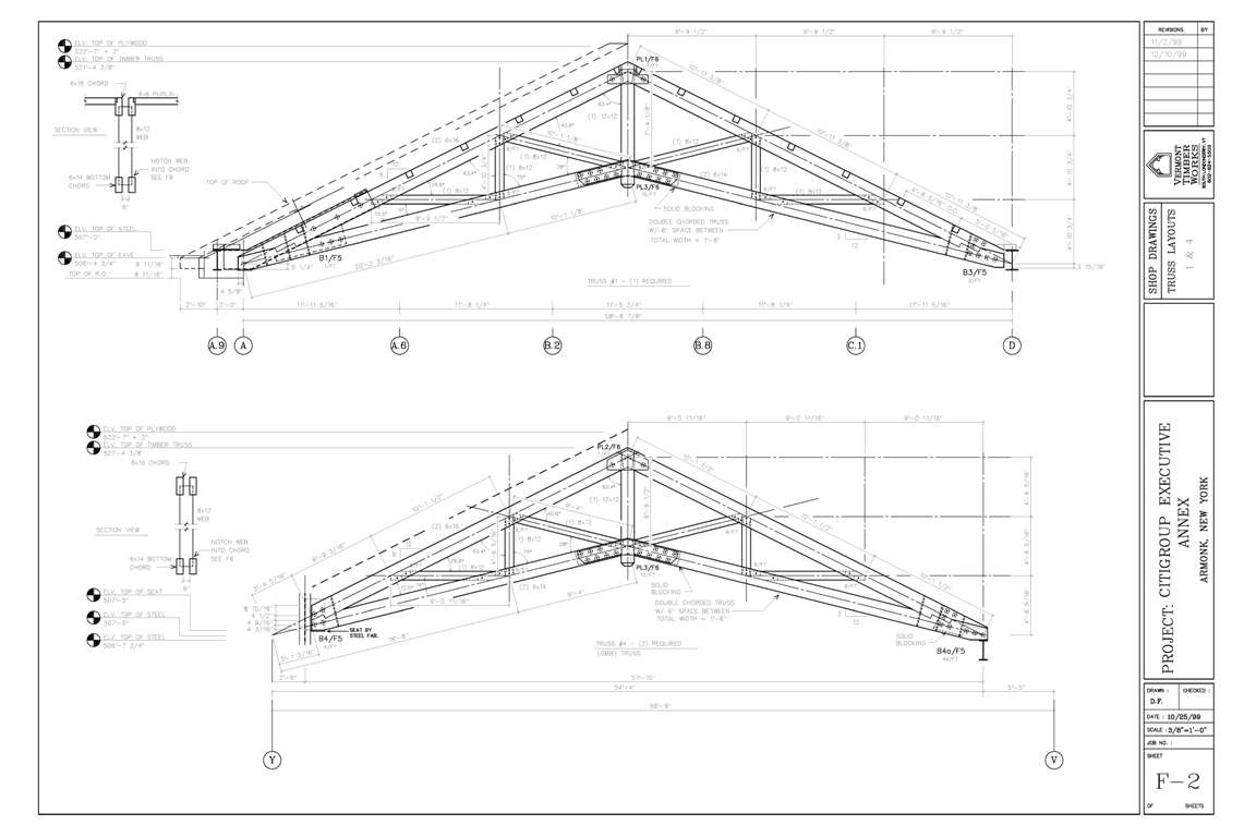 Scissor Trusses Made from Heavy Timber Ceiling Beams