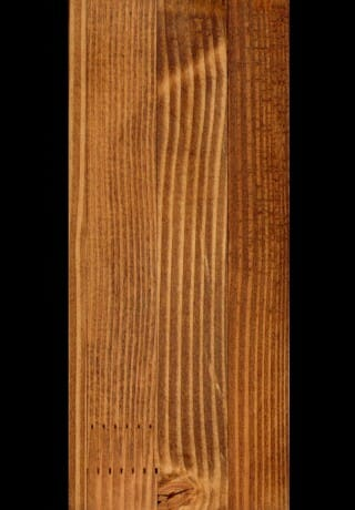 Glulam, Planed Smooth, Douglas Fir Timber with an Early American Stain