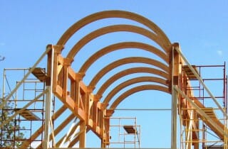 Glue laminated arches