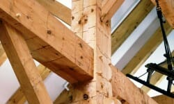 Hand Hewn Barn Beams