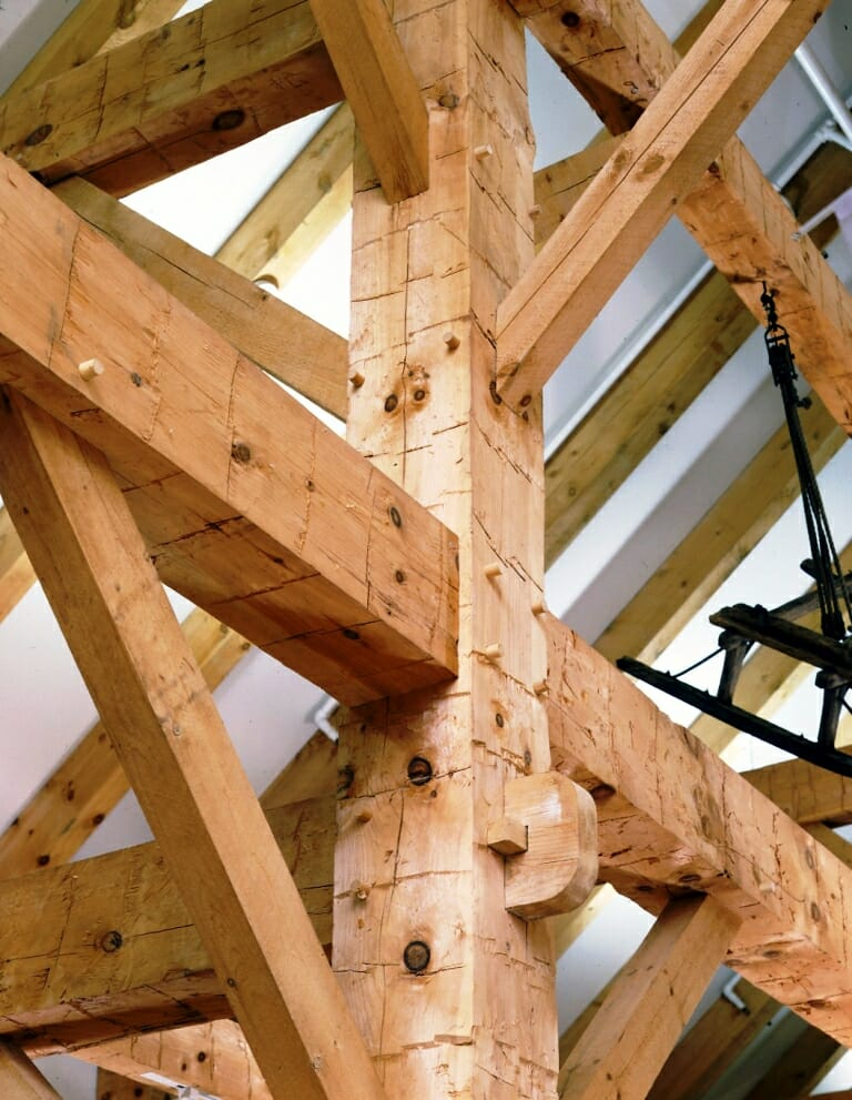 Hand hewn timber frame textured wood beams for Wood beams